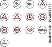 line vector icon set   taxi...   Shutterstock .eps vector #1012895374