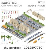 3d isometric train station and... | Shutterstock .eps vector #1012897750