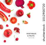 creative layout made of red... | Shutterstock . vector #1012900720