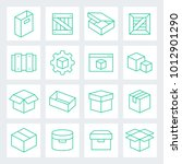 container and packing vector... | Shutterstock .eps vector #1012901290