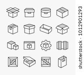 container and packing vector...   Shutterstock .eps vector #1012901293