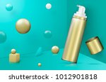 vector 3d realistic abstract... | Shutterstock .eps vector #1012901818
