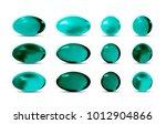 green vector 3d pills. | Shutterstock .eps vector #1012904866