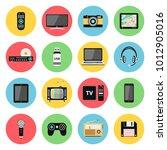 flat icons set of multimedia... | Shutterstock .eps vector #1012905016