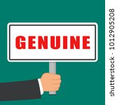 illustration of genuine word... | Shutterstock .eps vector #1012905208
