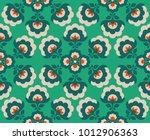 seamless floral vintage pattern | Shutterstock .eps vector #1012906363