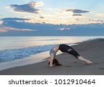 young healthy woman practicing...   Shutterstock . vector #1012910464