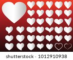 silver heart vector icon... | Shutterstock .eps vector #1012910938