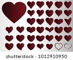 red heart vector icon... | Shutterstock .eps vector #1012910950