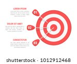 target with three arrows  three ... | Shutterstock .eps vector #1012912468
