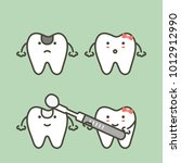 step of decay tooth to teeth...   Shutterstock .eps vector #1012912990