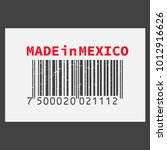 vector realistic barcode  made... | Shutterstock .eps vector #1012916626