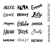 english hand lettered names    Shutterstock .eps vector #1012916716