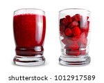 fresh beetroot smoothie in... | Shutterstock . vector #1012917589
