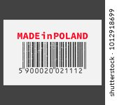 vector realistic barcode  made... | Shutterstock .eps vector #1012918699