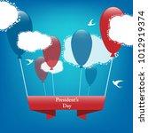 colorful vector president's day ...   Shutterstock .eps vector #1012919374