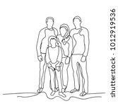 sketch family on white... | Shutterstock .eps vector #1012919536