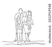 sketch family with children on... | Shutterstock .eps vector #1012919548