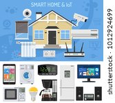 smart home and internet of... | Shutterstock .eps vector #1012924699