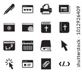 solid black vector icon set  ... | Shutterstock .eps vector #1012926409