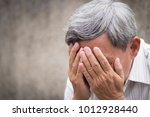 sick stressed failed old senior ... | Shutterstock . vector #1012928440