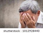 sick stressed failed old senior ...   Shutterstock . vector #1012928440