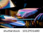 drummer close up during... | Shutterstock . vector #1012931680