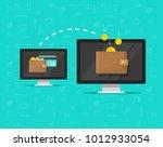 electronic money transfer... | Shutterstock .eps vector #1012933054