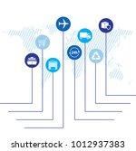 global logistics network. map... | Shutterstock .eps vector #1012937383