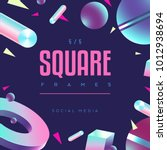 80's style social media square... | Shutterstock .eps vector #1012938694