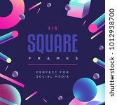 80's style social media square... | Shutterstock .eps vector #1012938700