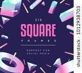80's style social media square... | Shutterstock .eps vector #1012938703