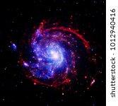 amazing galaxy. stars  nebula... | Shutterstock . vector #1012940416
