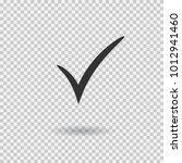 check mark icon. vector... | Shutterstock .eps vector #1012941460