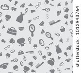 accessories seamless pattern. ... | Shutterstock .eps vector #1012943764