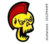 punk skull illustration. skull... | Shutterstock .eps vector #1012944499