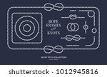 nautical rope knots and frames...   Shutterstock .eps vector #1012945816