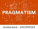 conceptual business... | Shutterstock . vector #1012949269