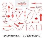 red arrows set | Shutterstock .eps vector #1012950043