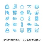 dry cleaning  laundry flat line ...   Shutterstock .eps vector #1012950850