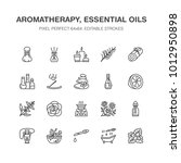 essential oils aromatherapy... | Shutterstock .eps vector #1012950898