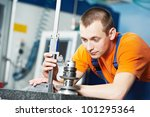 mechanical technician measuring ...   Shutterstock . vector #101295364