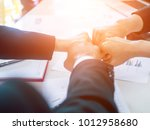 group of business people united ... | Shutterstock . vector #1012958680