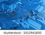electronic circuit board close... | Shutterstock . vector #1012961830