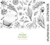 tea shop vector illustration....   Shutterstock .eps vector #1012964638