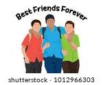best friends forever | Shutterstock .eps vector #1012966303