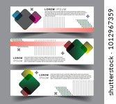 vector abstract design banner... | Shutterstock .eps vector #1012967359
