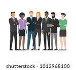 multiethnic business team ... | Shutterstock .eps vector #1012968100