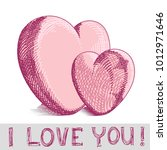 a heart  love   st. valentines... | Shutterstock .eps vector #1012971646