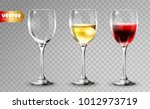 transparency wine glass. empty...   Shutterstock .eps vector #1012973719